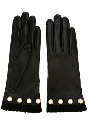 Gucci studded gloves - Black
