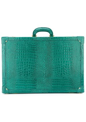 Family Affair crocodile effect sunglasses briefcase - Green