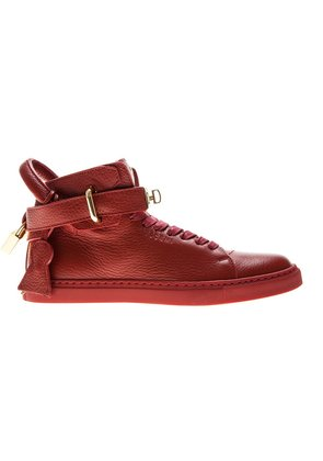 Buscemi clasp detail lace-up sneakers - Red