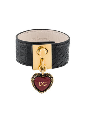 Dolce & Gabbana heart locket cuff bracelet - Black