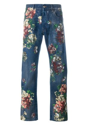 Gucci floral painted jeans - Blue