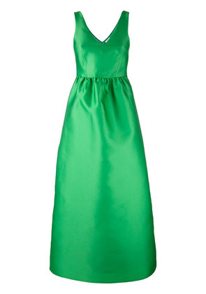 P.A.R.O.S.H. fitted waist evening gown - Green