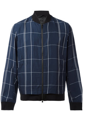 Theory Maxi Check bomber jacket - Blue