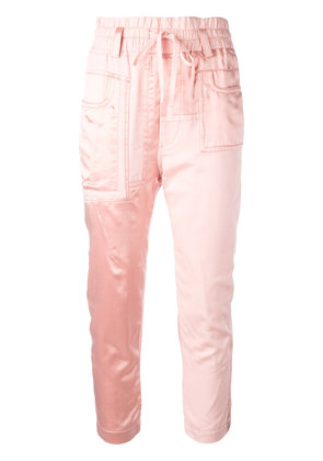 Haider Ackermann Baker cropped trousers - Pink & Purple