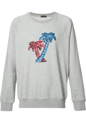 Marc Jacobs sequin embroidered palm tree sweatshirt - Grey