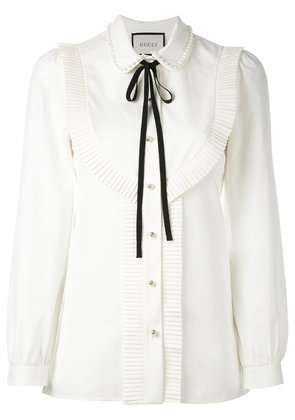 Gucci pleated trim blouse - Nude & Neutrals