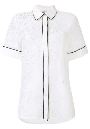 Essentiel Antwerp lace piped shirt - White