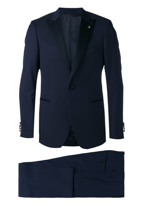 Lardini pointed lapels two-piece suit - Blue