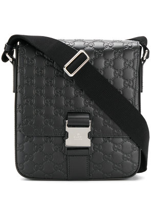 Gucci Signature Leather Messenger - Black