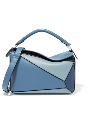 Loewe - Puzzle Small Color-block Textured-leather Shoulder Bag - Blue