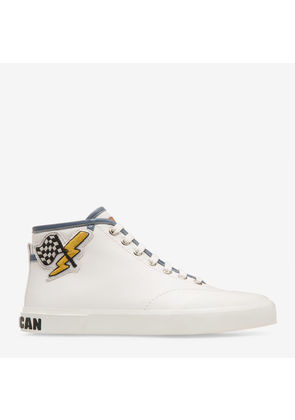 Bally Super Smash White, Women's calf leather high-top trainer in white