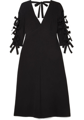 Bottega Veneta - Bow-detailed Crepe Midi Dress - Black