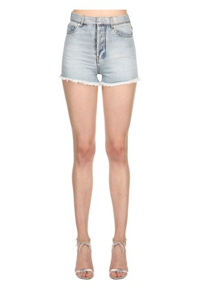 LVR EDITION HOLOGRAM WAIST DENIM SHORTS