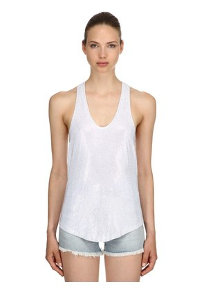 LVR EDITION HOLOGRAM CRYSTALS TANK TOP