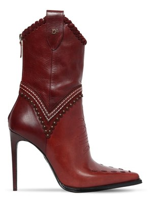 120MM WESTERLY STITCHED LEATHER BOOTS