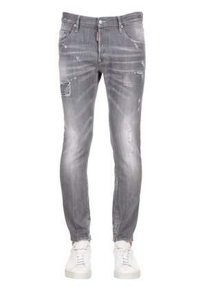 16CM SKATER GREY COTTON DENIM JEANS