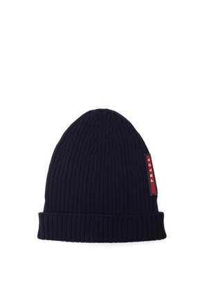 Logo-embellished ribbed-knit beanie hat
