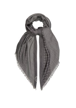 Wool and silk-blend scarf