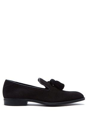 Foxley perforated suede loafers