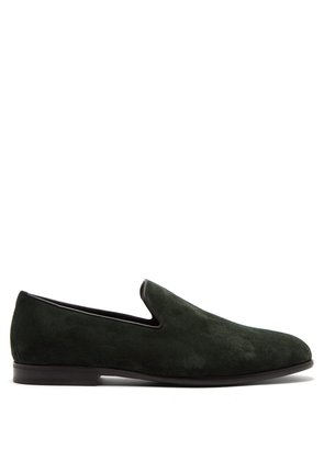Marlo brushed suede loafers