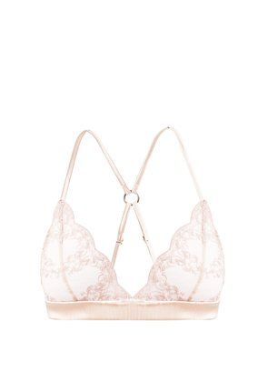 Antoinette lace and tulle soft-cup bra