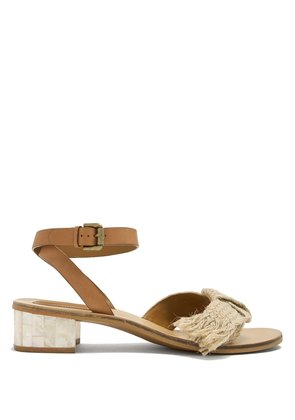 Knot-detail leather sandals