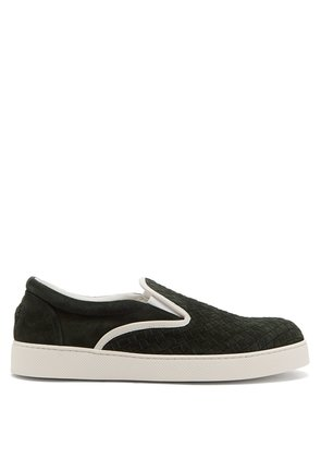 Dodger Intrecciato suede slip-on trainers