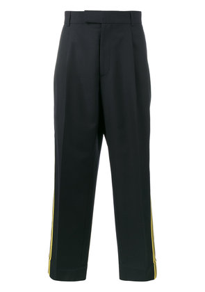 Gucci double stripe cropped trousers - Blue