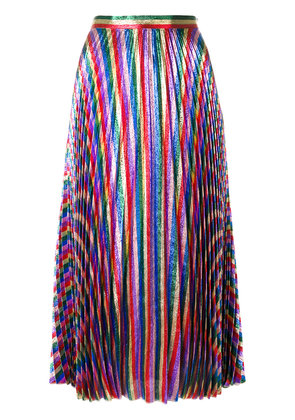 Gucci Iridescent pleated midi skirt - Multicolour