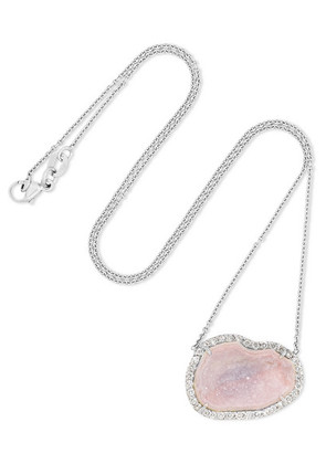 Kimberly McDonald - 18-karat White Gold, Geode And Diamond Necklace - one size