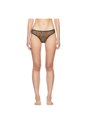 Le Petit Trou Black Claudette Heart Briefs