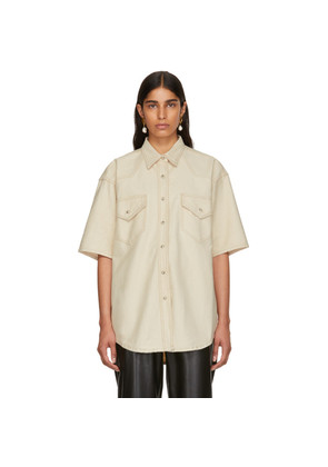 Nanushka Beige Denim Seymour Shirt