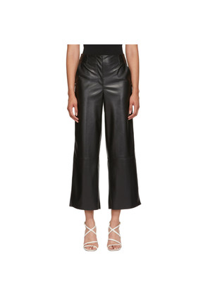 Nanushka Black Vegan Leather Africa Trousers