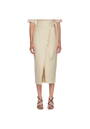 Nanushka Beige Denim Opal Wrap Skirt