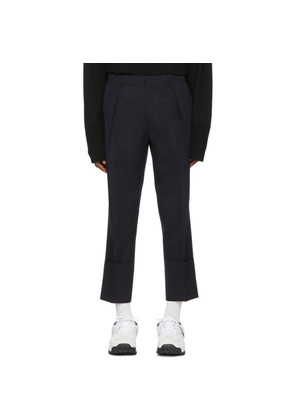 Wooyoungmi Navy Wool Trousers