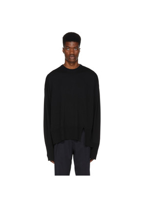 Wooyoungmi Black Very Long Sleeves Sweater