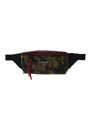 Prada Multicolor Camouflage Belt Pouch