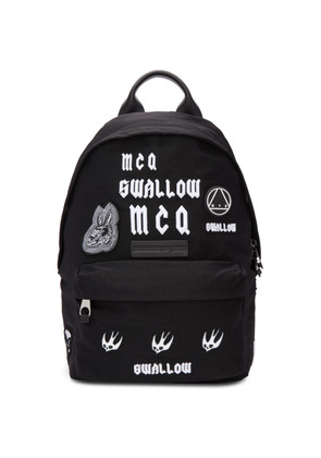 McQ Alexander McQueen Black 'Swallow' Classic Backpack