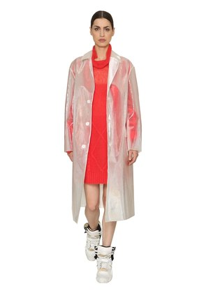 IRIDESCENT SHEER DISTRESSED TRENCH COAT