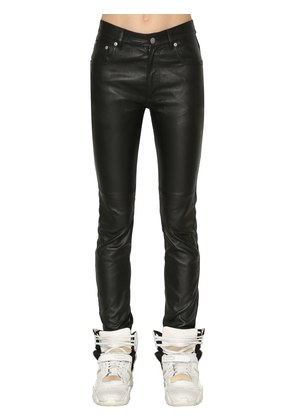SKINNY STRETCH NAPPA LEATHER PANTS