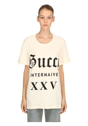 GUCCI INTERNAIVE COTTON JERSEY T-SHIRT