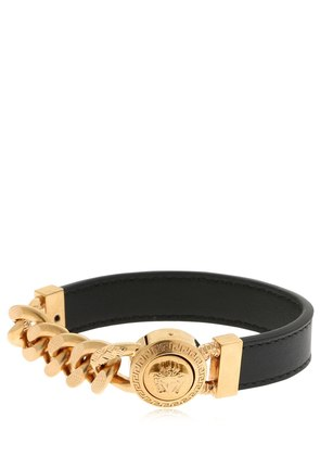 MEDUSA METAL & LEATHER BRACELET