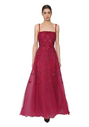 EMBELLISHED TULLE GOWN