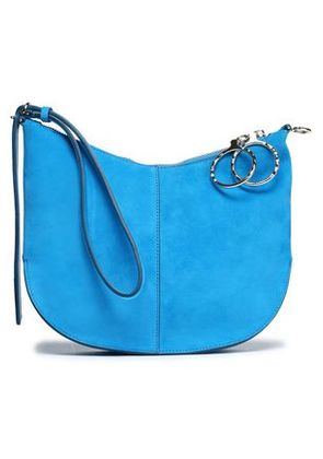 Nina Ricci Woman Suede Clutch Turquoise Size -