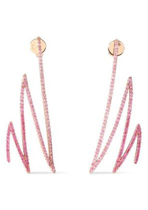 Khai Khai Woman 18-karat Gold Sapphire Earrings Pink Size -