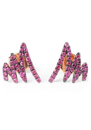 Khai Khai Woman 18-karat Rose Gold Sapphire Earrings Fuchsia Size -