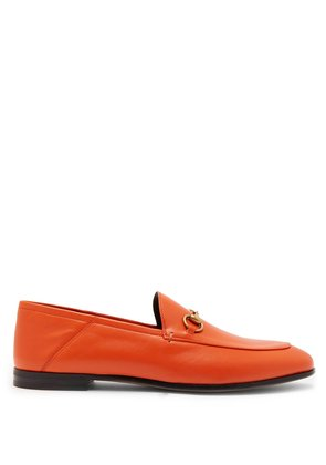Brixton collapsible-heel leather loafers