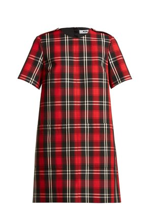 Tartan twill dress