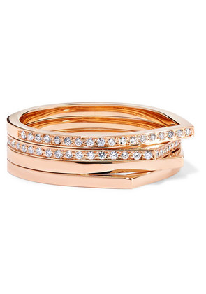 Repossi - Antifer 18-karat Rose Gold Diamond Ring - 55