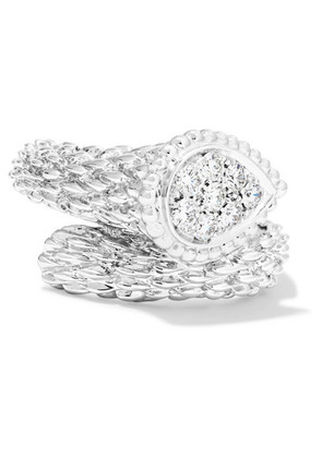 Boucheron - Serpent Bohème 18-karat White Gold Diamond Ring - 52